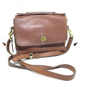VTG Coach genuine leather brown shoulder bag